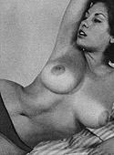 Voluptuous vintage sixties model June Palmer posing nude