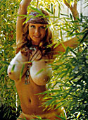 Sweet Roberta Pedon showing her big and natural mellons