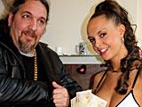 Brasilian tourist bangs a stunning real window prostitute