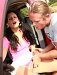 Teenage hitchiker gets fucked by the bus driver outdoor