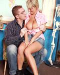 Huge teenage boobies getting a big cock in between them