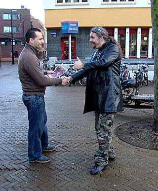 Real Amsterdam milf hooker fucking a tourist till he cums