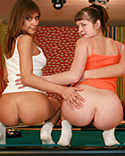 Three pool playing lesbians fucking eachothers pussy wild