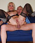 Busty British slut gets anal fucked by a senior gentleman
