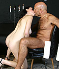 Cute and sexy chick digs a horny bald old senior any day