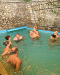 Naughty teens having horny groupsex in the swimmingpool