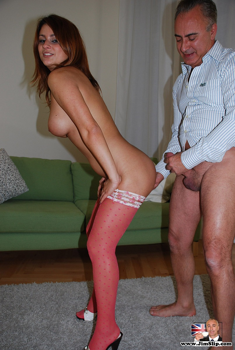Horny Mature Chick In Stockings Fucks Young Guy