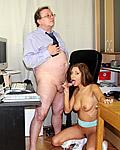 Horny senior boss fucking a sexy and hot employee hardcore