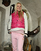 Young teenage sweetie masturbates with a big silver toy