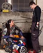 Shy teenage biker chick fucks the horny mechanic hardcore