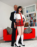 Horny old british gentleman fucks a willing street slut