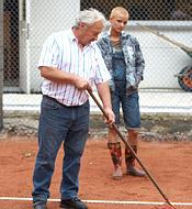 Old senior tennis club fucker shagging willing teenager