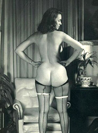 Vintage chicks showing sexy round bottoms in the fifties