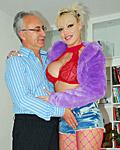 A lucky old guy enjoys shagging a sexy porn star hardcore