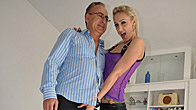 Horny old chap enjoys fucking a sexy british porn chick