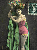 Horny naked vintage color chicks posing in the twenties