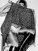 Vintage daring chicks wearing high heels in the fifties