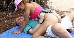 Hot teen girl with big natural titties getting fucked hard