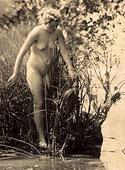 Horny vintage beauties taking a hot bath in the twenties