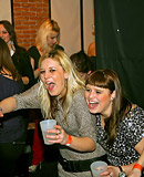 Interracial fucking at a crazy slutty public dancing party