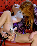 Two teenage lesbians pleasuring each others soaked pussy