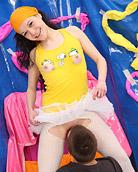 Cute pretty teenager enjoys banging her horny boyfriend