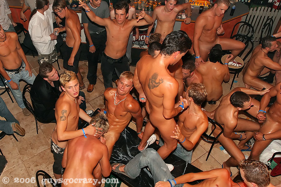 at the local gay bar