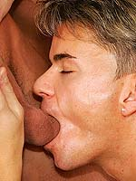 Guy fucks a blonde babe while sucking on a nice hard cock