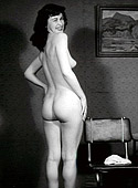Beautiful vintage sweetheart bottoms posing in the fifties
