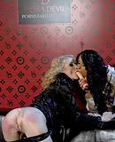 A horny daring lesbian sweetie enjoys reaching an orgasm