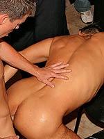 A bunch of gay guys having a crazy drunk gangbang sex orgy