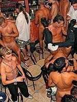 Huge drunken gay cock sucking and ass fuckin group sex party