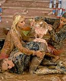 Three daring hot lesbian sweeties love playing with mud