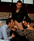 Hot horny gay guys and a girl filling every hole hardcore