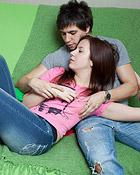 A teenage brunette sweetie shagging her horny boyfriend