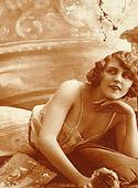 Vintage chicks in their pretty underwear in the thirties