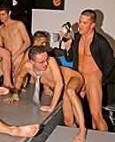 Horny gay fellows enjoy fucking large hard cock publicly