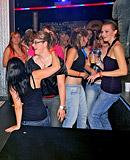 Horny girls shagging dancing men at a local fucking club