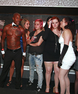 Crazy party chicks nailed by guys at a local fucking bar