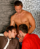 Two very gay hotshots shagging two willing hotties hard