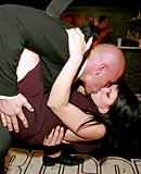 Daring dancing hot babes shagged at a local hot sex club