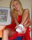 Hot skinny beauty loves stripping for horny beauty lara