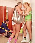 Lucky horny dude fucks two busty teenage chicks hardcore