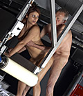 Hot pretty young sweetie fucking a horny old senior fart