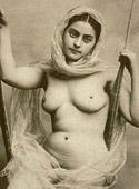 Pretty cute vintage topless girls posing in the twenties