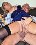 Horny old senior sucking her pretty sexy titties hardcore