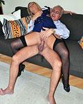 Hot horny street slut nailed hard by an old massive cock