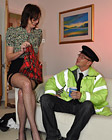 A very handsome nude babe fucked hardcore by a horny cop