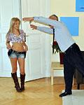 British gentleman penetrates cute girls tight cunt hard