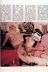 Nasty clown fingering a girl